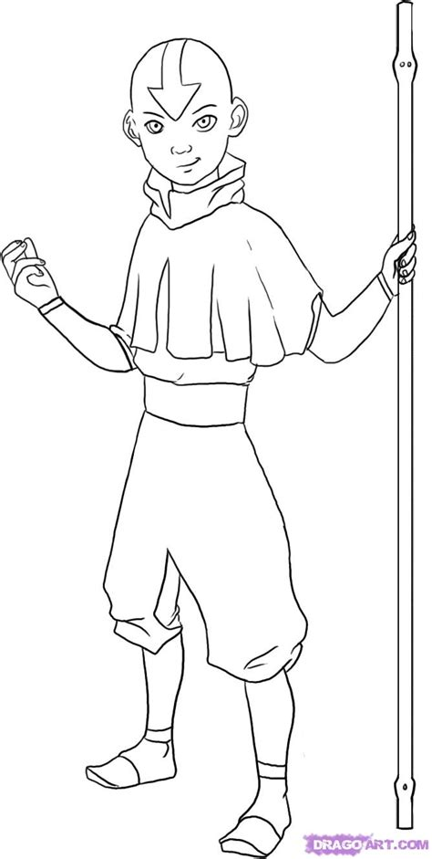 coloring pages avatar characters how to draw avatar aang from avatar the last airbender