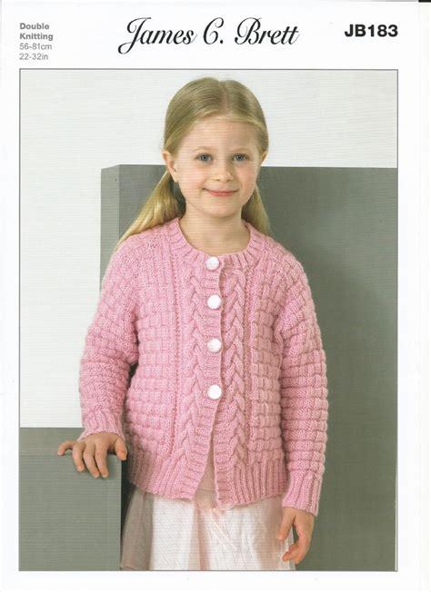 knitting pattern girl cardigan james c brett girls cardigans dk knitting pattern jb183