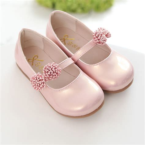 spring shoes for teens pink children flowers girls kids leather princess shoes