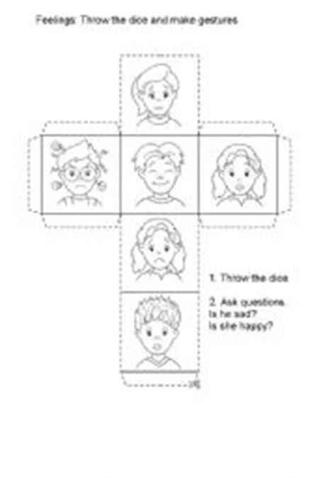printable feelings dice english worksheets feelings worksheets page 46