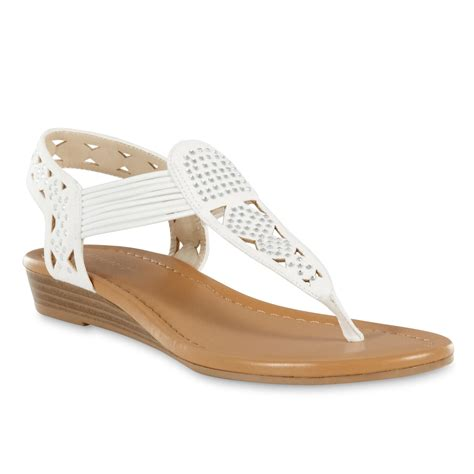 sears sandals womens attention s melanie sandal white