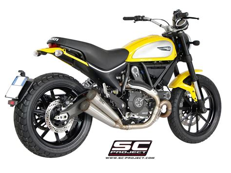 Auspuffanlagen Motorrad Ducati by Sc Project Exhaust Ducati Scrambler Twin Conic Silencers