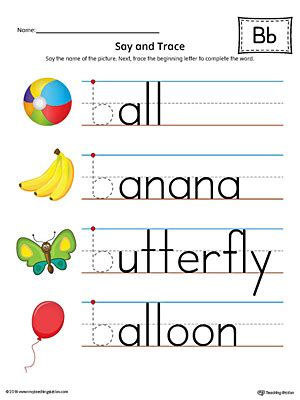 color starting with h say and trace letter h beginning sound words worksheet