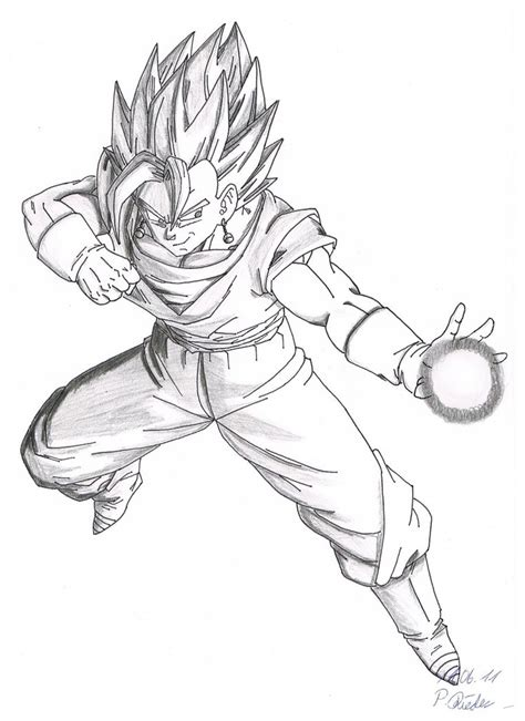 dragon ball z vegeto free coloring pages