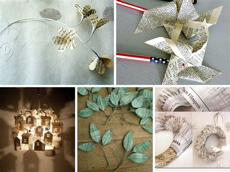 Paper Crafts Recycled Newspaper - 9 creative diy paper craft ideas to go green