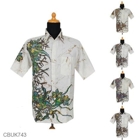 Kemeja Pastel Katun Wanita Kode753189 kemeja batik motif tanaman tanduk pastel kemeja lengan pendek murah batikunik