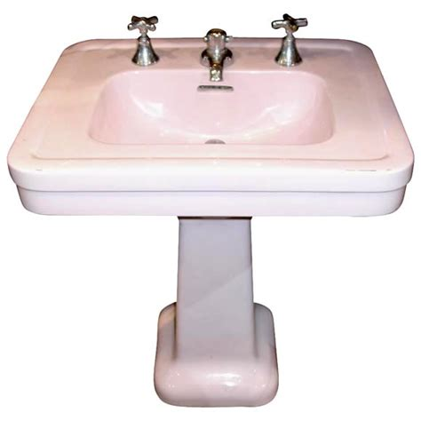 pink bathroom sink pink pedestal sink at 1stdibs