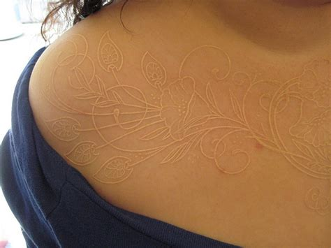 white ink tattoo designs ideas 15 amazing white ink ideas