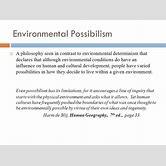 possibilism-geography
