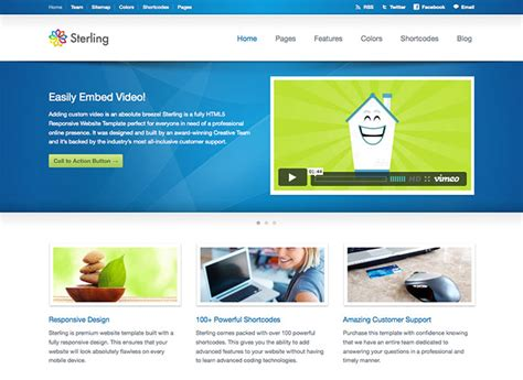 31 Best Web Hosting Html Templates Web Graphic Design Bashooka Html Homepage Template