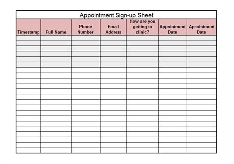 sign templates free downloads 40 sign up sheet sign in sheet templates word excel