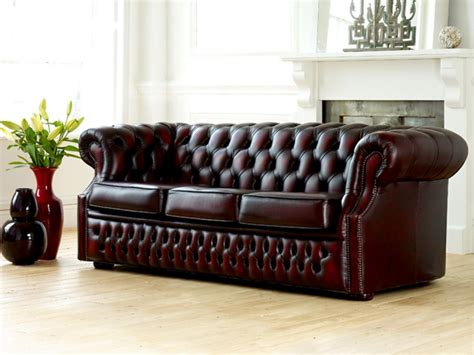 chesterfield sofa leder chesterfield leather sofa pottery
