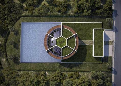 messi house provided sustainable eco house in the form of football for lionel messi interior