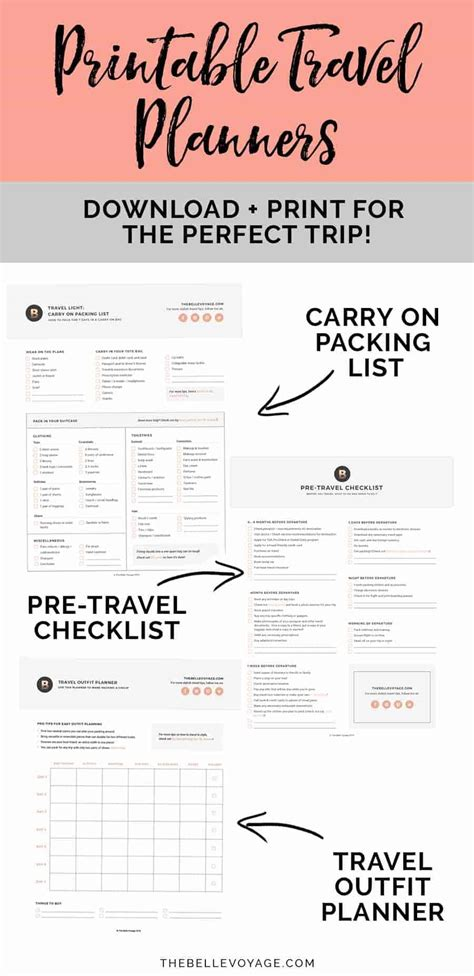 printable travel checklist template printable ultimate packing checklist for travel the
