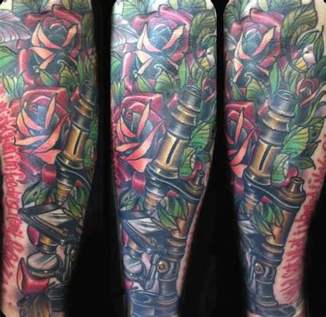 microscope tattoo 60 science tattoos on sleeve