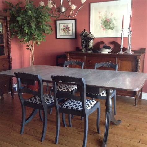 dining room furniture redo with sloan chalk paint graphite with