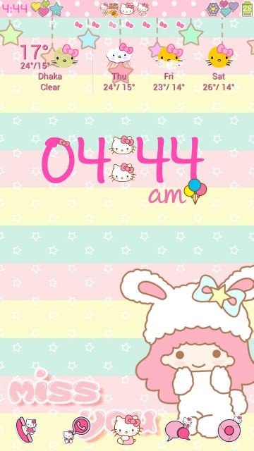 uccw hello kitty themes pretty droid themes hello kitty digital clock uccw