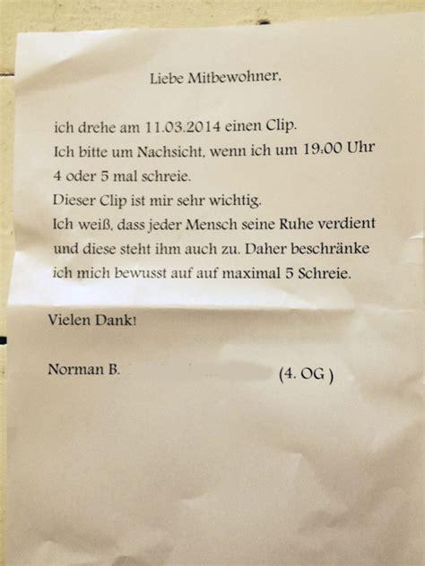 Beschwerdebrief An Nachbarn Die Nachbarn Oben T 228 Glicher Und N 228 Chtlicher Terror Mit Purer Absicht Notes Of Berlin