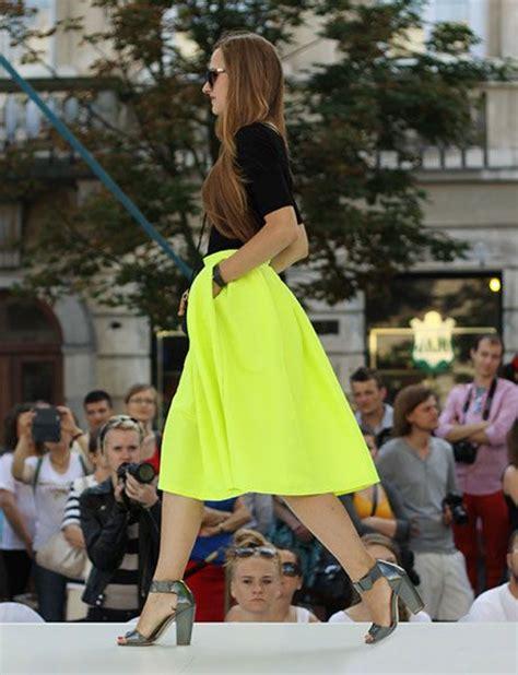 bright yellow midi skater skirt choies october