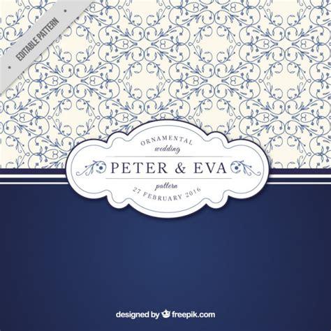 freepik wedding pattern ornamental floral wedding pattern vector free download