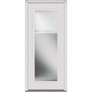 30 In Exterior Door Milliken Millwork 30 In X 80 In Blinds Right Lite Classic Primed Steel