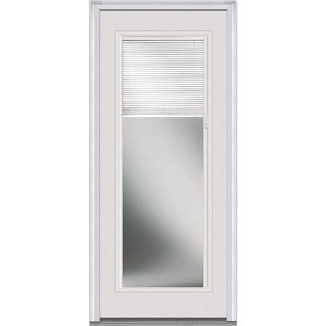 Exterior Door Shades Milliken Millwork 30 In X 80 In Blinds Right Lite Classic Primed Steel