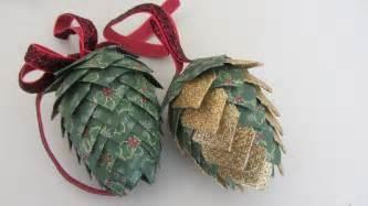 paper pinecone christmas ornament styrofoam egg shape beautiful youtube
