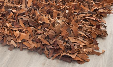 brown leather rug safavieh knotted brown leather shag area rug lsg511k ebay