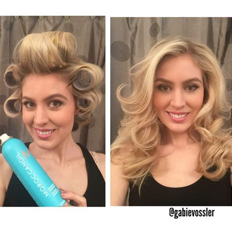 velcro rollers before and after roller curls before and after www imgkid com the image