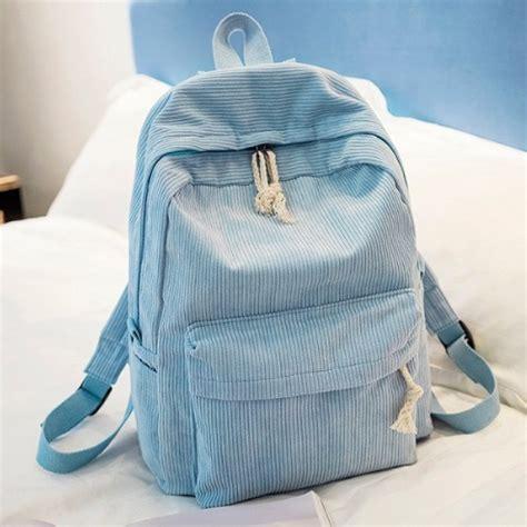 corduroy pastel aesthetic school bag onyx bunny