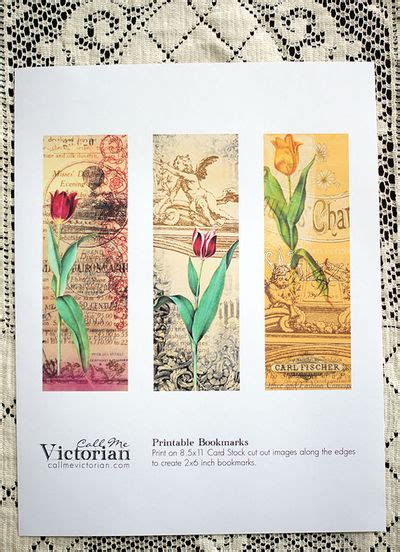 printable victorian bookmarks free printable victorian tulip bookmarks crafts juxtapost