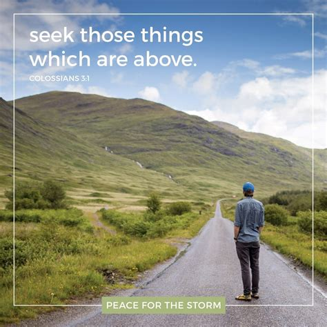 those things seek those things which are above peace for the