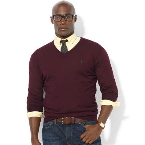 Sweater Pusple Maroon Lt Babyterry Maroon ralph vneck merino wool sweater in purple for