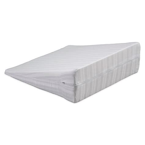 pillow wedge bed bath and beyond bedding essentials cotton wedge pillow protector bed