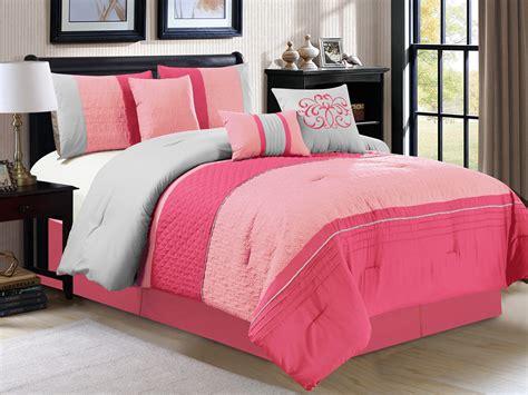 fuschia comforters 7 pc clamshell trellis embossed comforter set fuschia