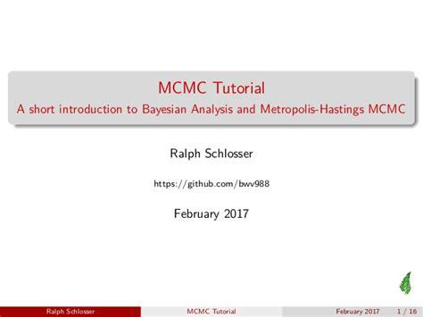 github tutorial slideshare metropolis hastings mcmc short tutorial