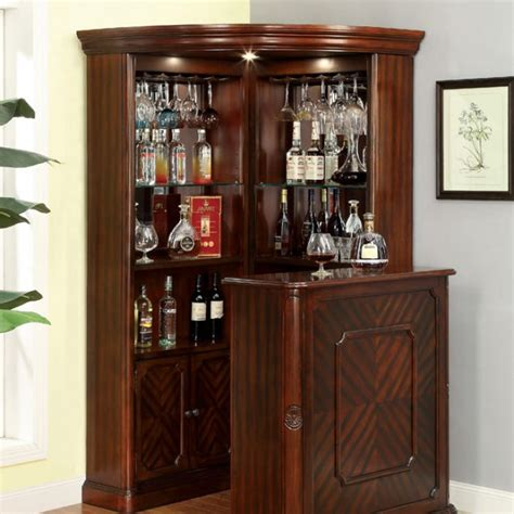 Room And Board Bar Cabinet Voltaire Traditional Style Curio Corner Cabinet Bar Counter Table Set