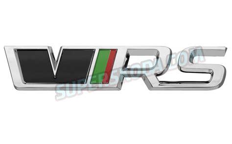 skoda vrs logo octavia iii original skoda rear emblem rs from the