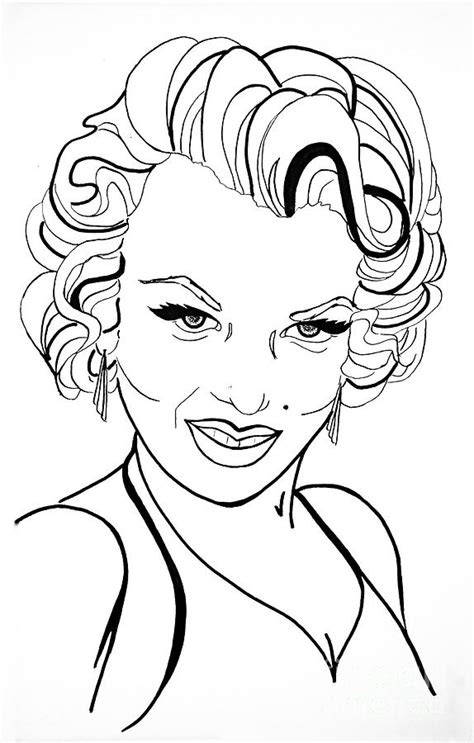 how to draw doodle lines marilyn line drawing drawing by simon