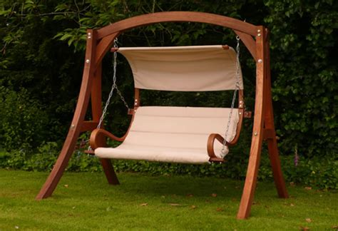 wooden garden swing for adults wooden global