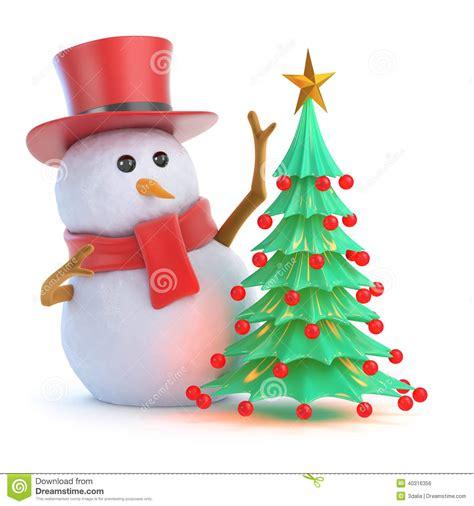 225 rbol de navidad elegante del mu 241 eco de nieve 3d stock de