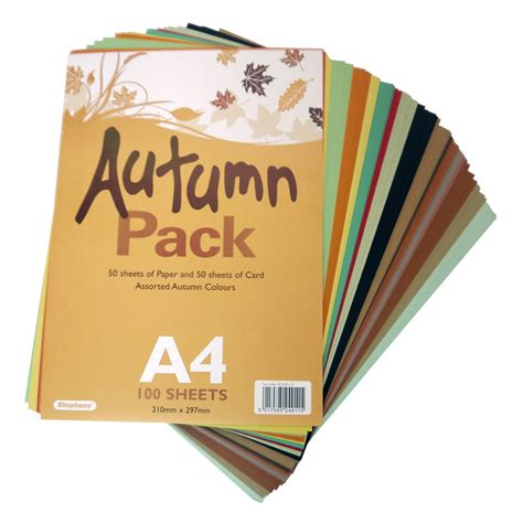 a4 autumn card paper pack 100 sheets card paper