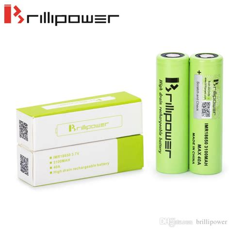 100 Authentic Blackcell Brillipower 3100mah 40a 18650 Battery Black high drain imr18650 battery electronics 3100mah 40a 3 7v brillipower rechargeable cell for box