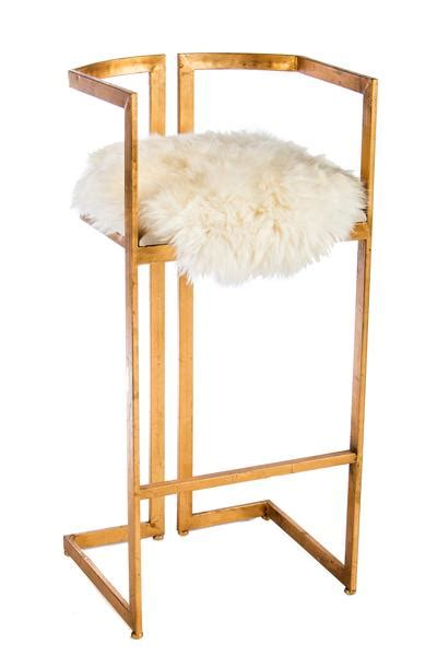 Statements By J Bar Stool by 48b 16a3064 Miloh Sheepksin Bar Stool Statements By J