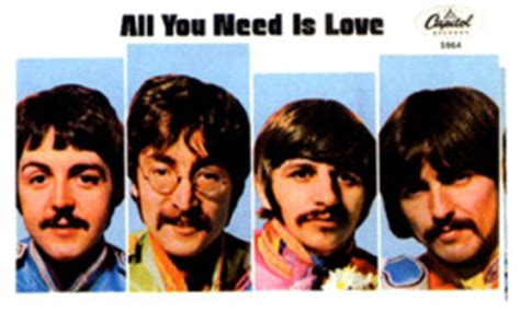 Kaos The Beatles All You Need Is the beatles blogs by mike