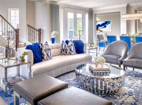 luxury london living room decor  white blue  grey