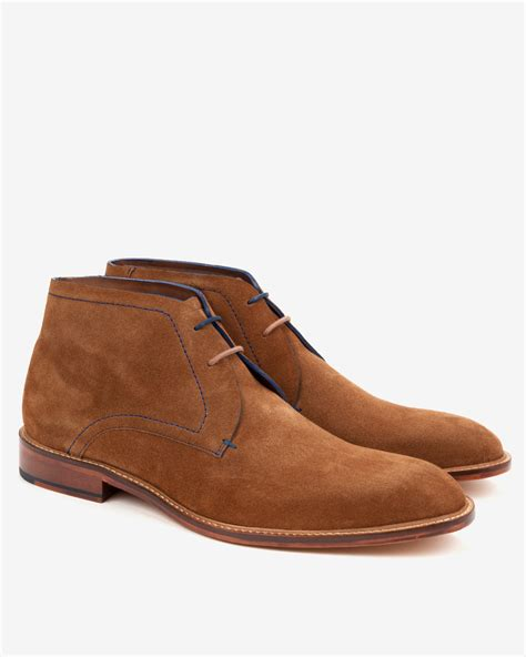 Sepatu Teds 08 Suede ted baker suede derby chukka boots in brown for lyst