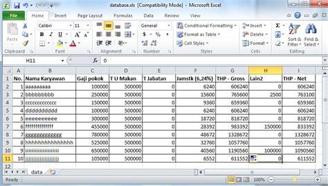 membuat database gaji karyawan membuat slip gaji dengan mail merge di office 2010