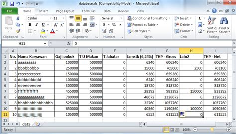 format absensi karyawan excel best free mail merge software bertylmall