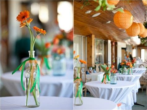 Orange and Green Wedding on Pinterest   Green Wedding